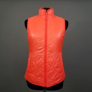 NWOT J. CREW Shiny Red Puffer Vest
